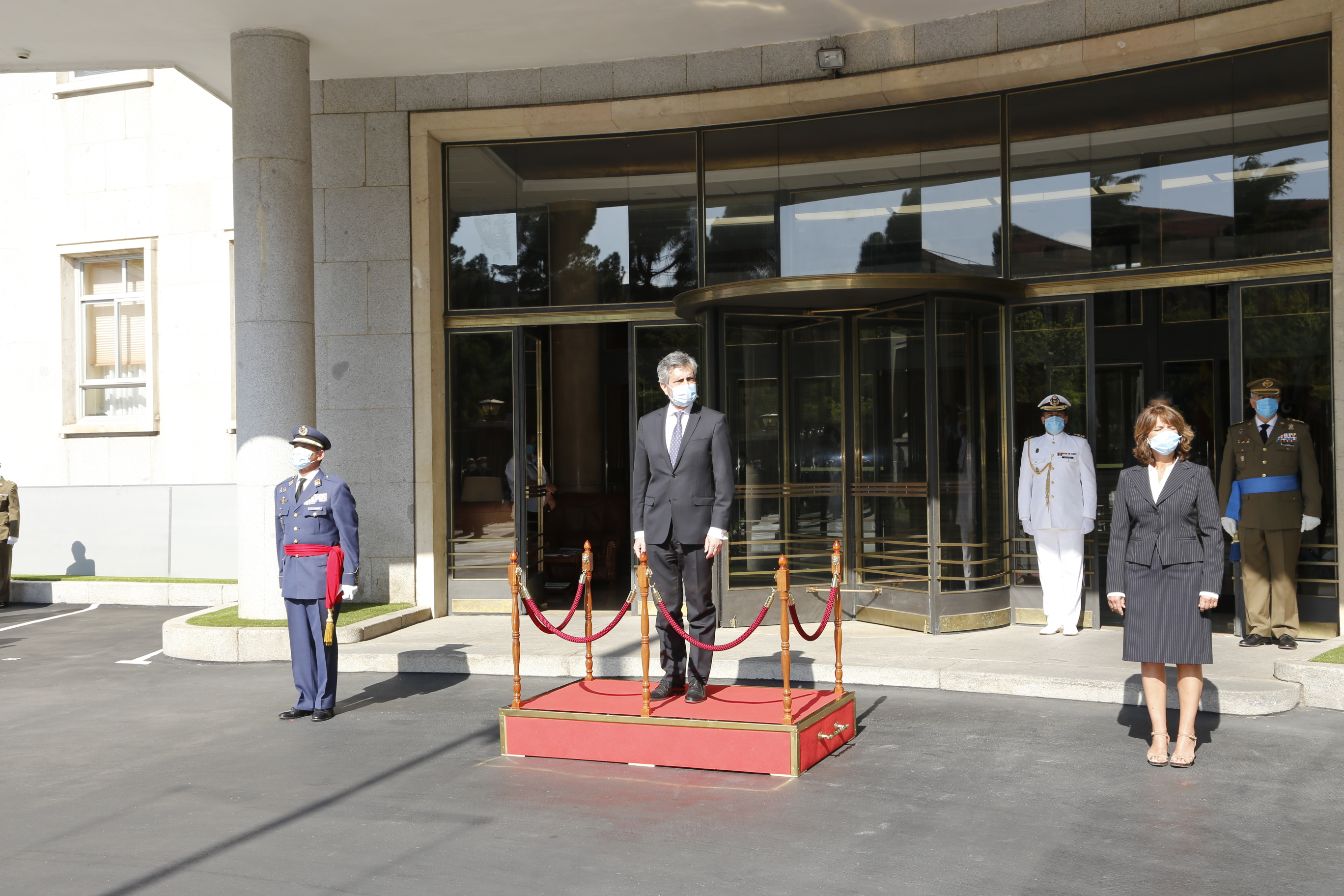 Solemn flag raising ceremony honoring the sixth Anniversary of the Proclamation of H.M. King Felipe VI