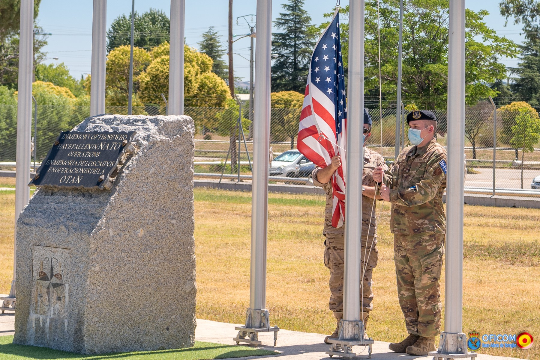 CAOC TJ raises U.S. flag on a ceremony  honoring U.S. Independence day