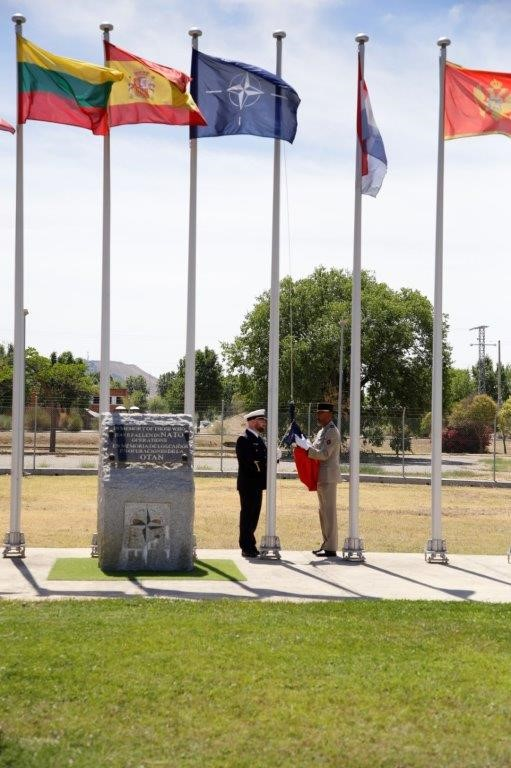 CAOC TJ raises French Flag Honoring French National Day