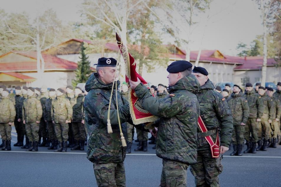 Transfer of Authority of the Spanish contingent in NATO's eFP mission