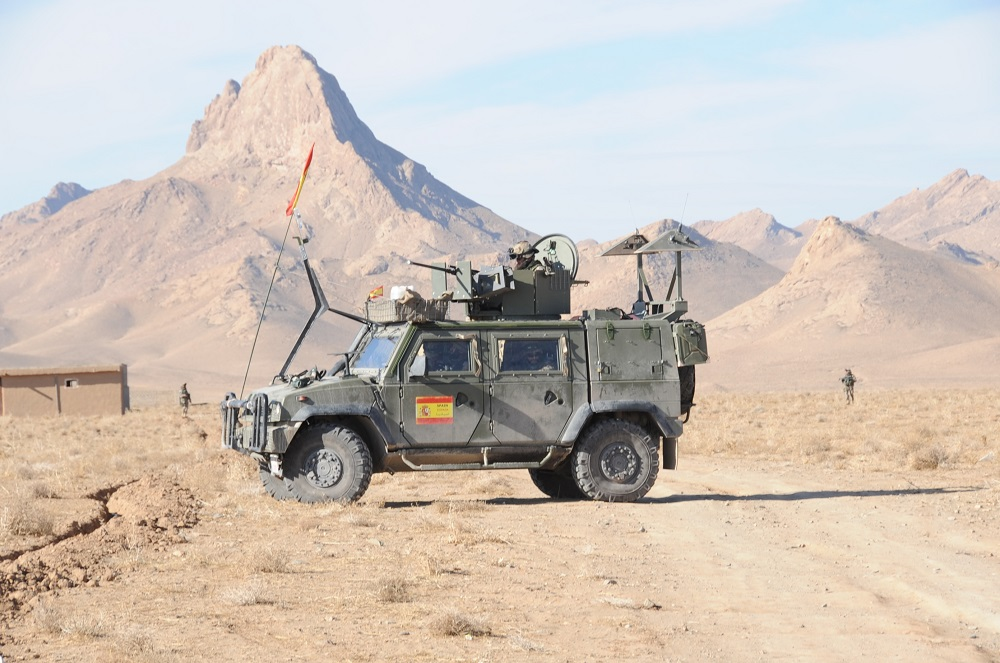 A Spanish vehicle in Afghanistan