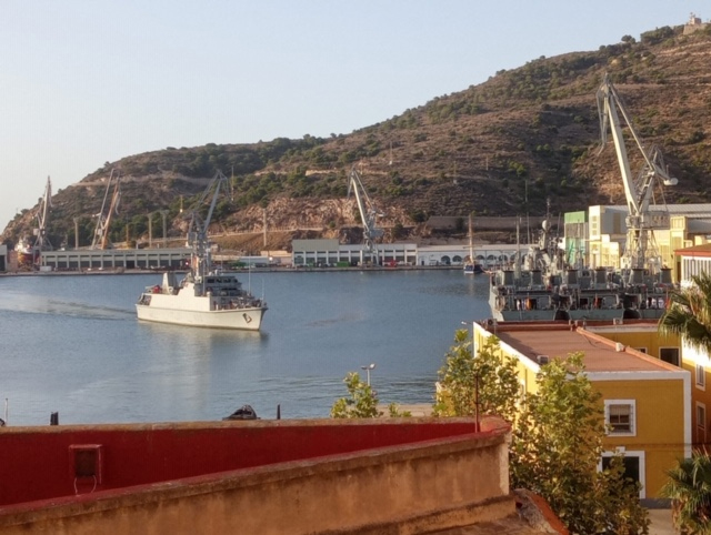 "Mine-hunter ""Tambre"" returns to Spain  after being deployed within the SNMCMG-2"