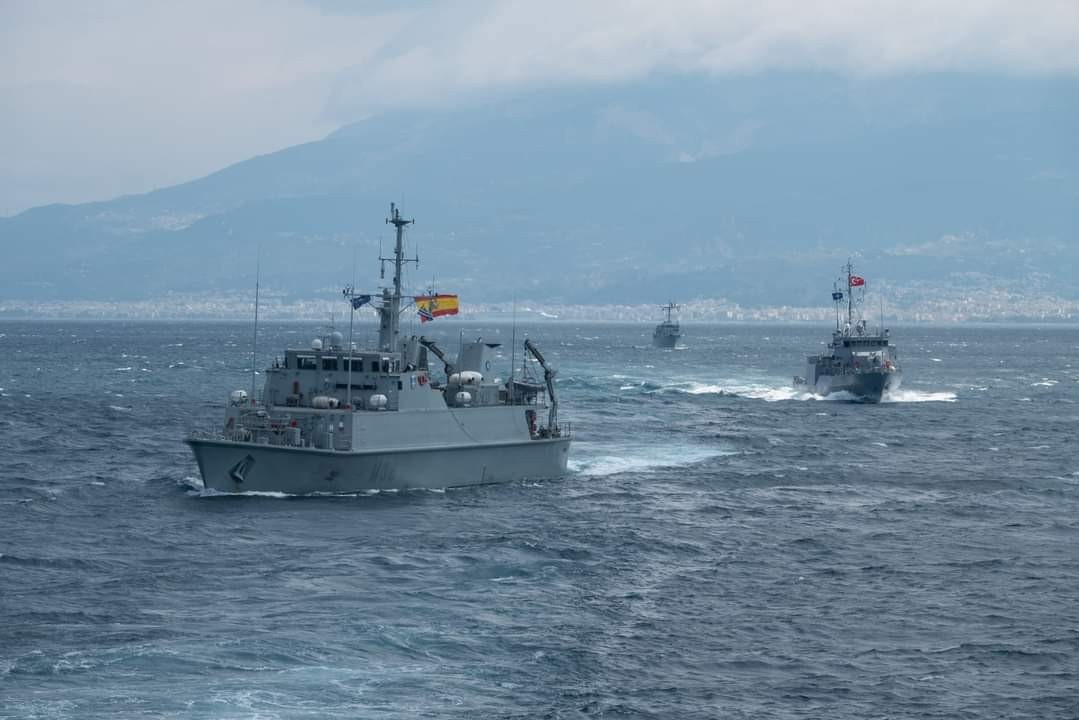 SNMCMG-2 training exercise in the gulf of Patras