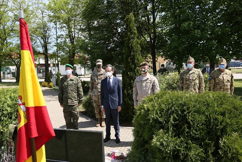 Mission 'Althea' in Sarajevo paid tribute to the Spanish servicemen fallen  in Bosnia and Herzegovina