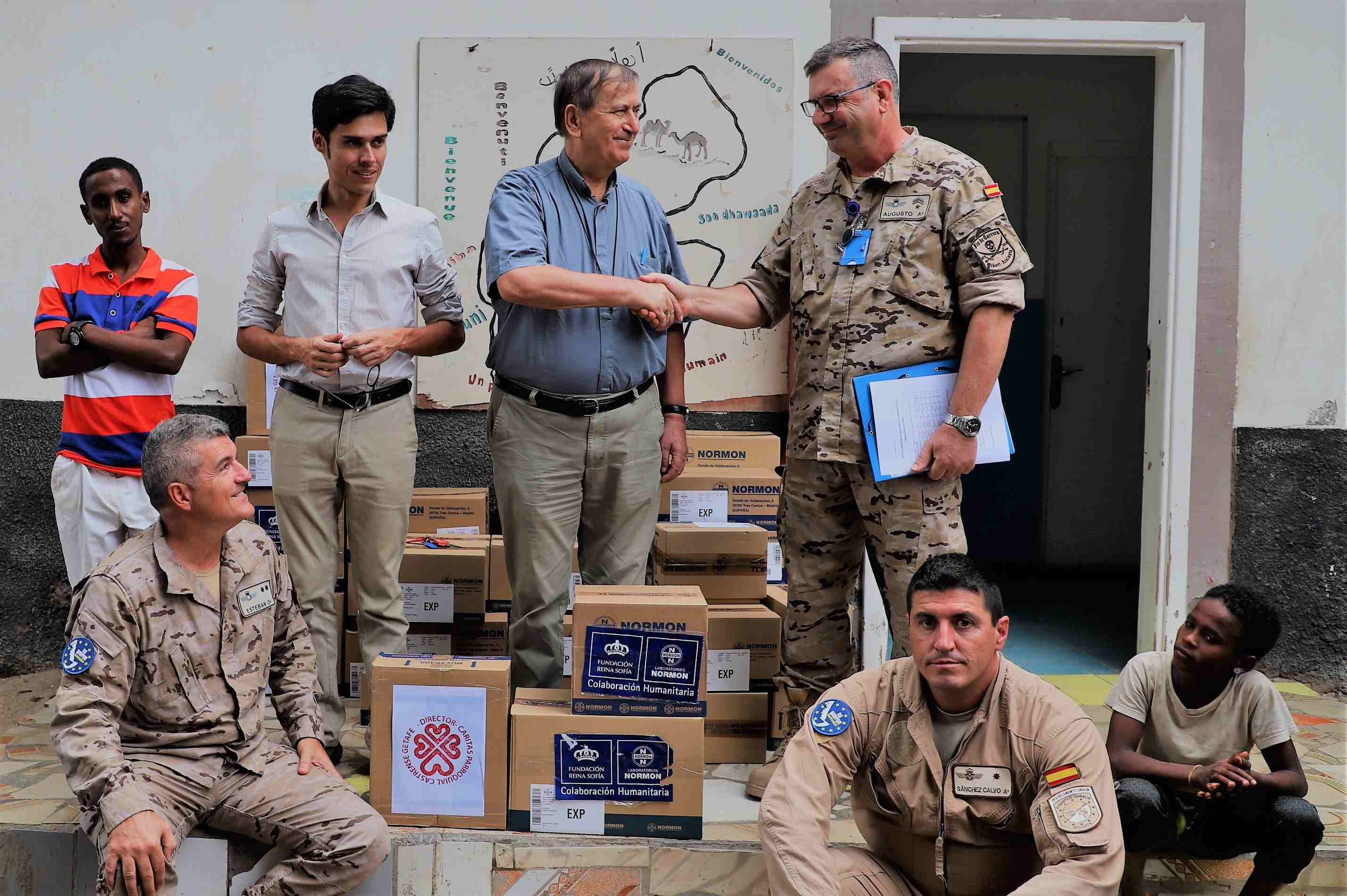 Orion detachment delivers medicines to Caritas Djibouti