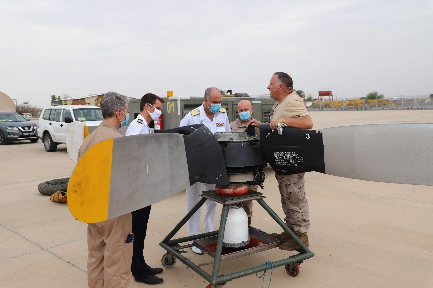 Rear Admiral Villanueva visits 'Orion' Air Detachment in Djibouti