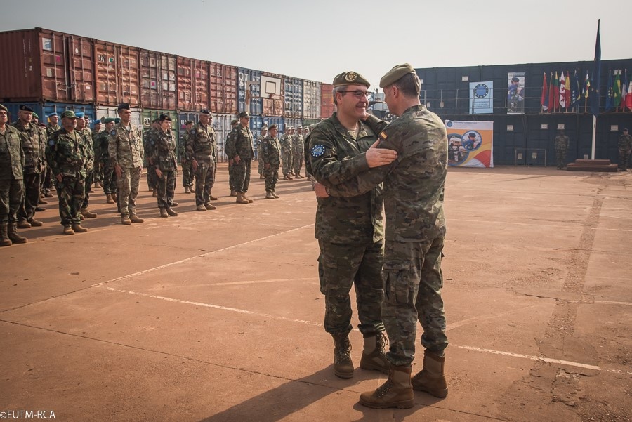 Handover/takeover (HOTO) of the Spanish contingent from the European Union Training Mission in the Central African Republic