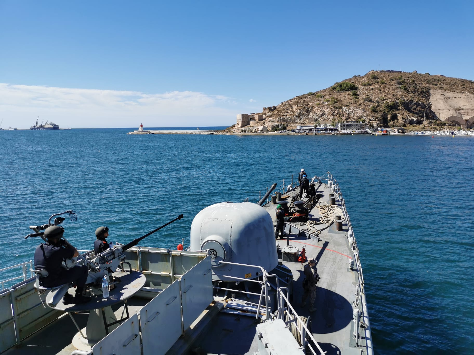 Patrol vessel 'Infanta Elena' carries out surveillance routines on Spanish sovereign waters