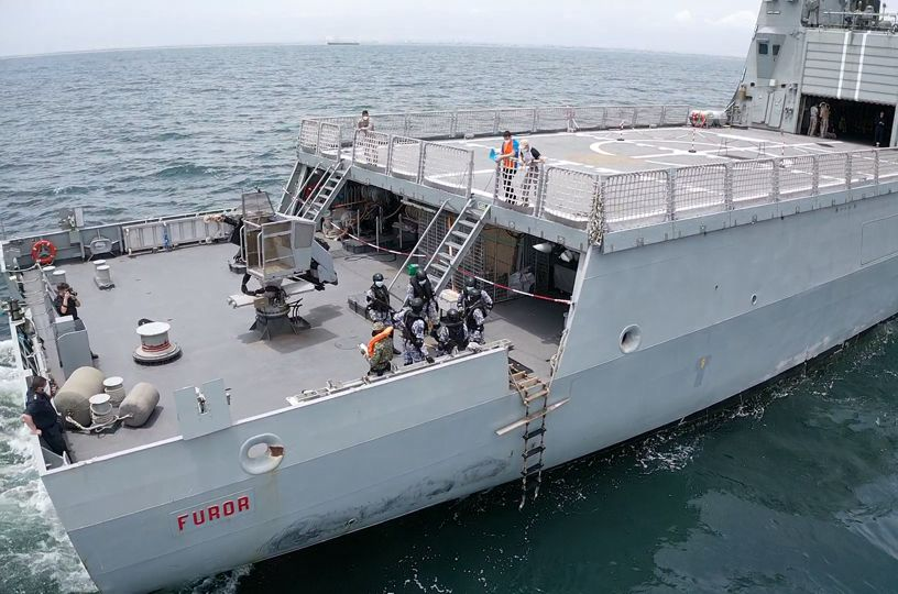 BAM 'Furor' during operation African Deployment