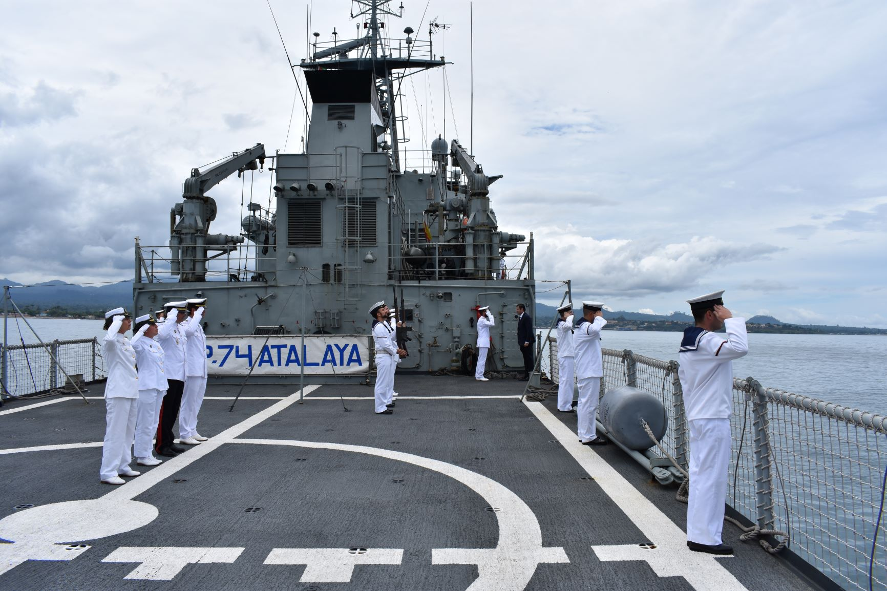 The 'Atalaya' collaborates with São Tomé and Príncipe Armed Forces