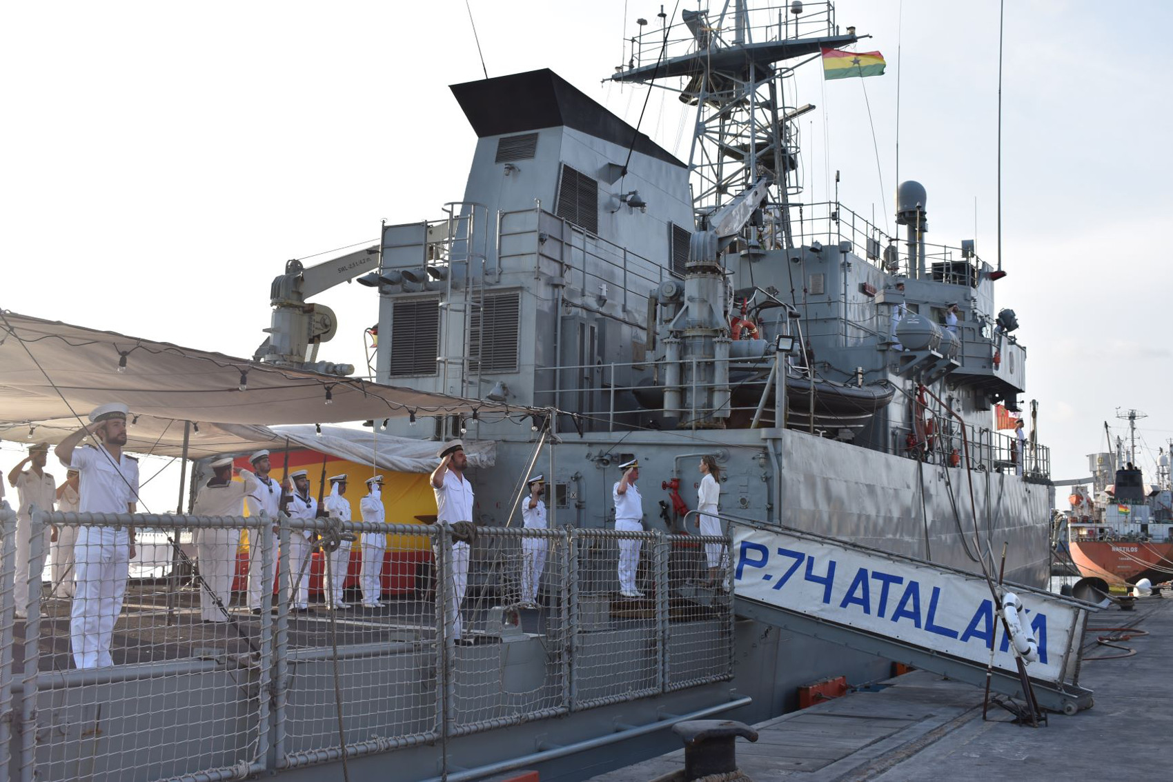 "The patrol boat ""Atalaya"" cooperates with the Ghana Armed Forces in Tema"