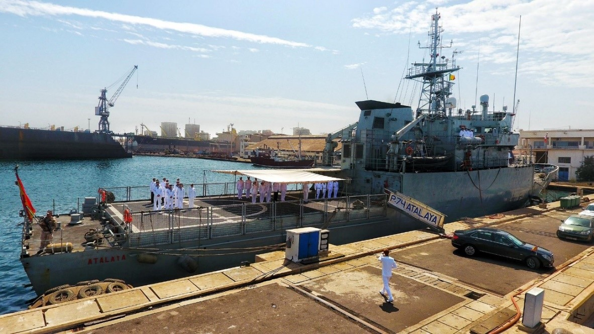 "The patrol boat ""Atalaya"" cooperates with Senegal Armed Forces in Dakar"