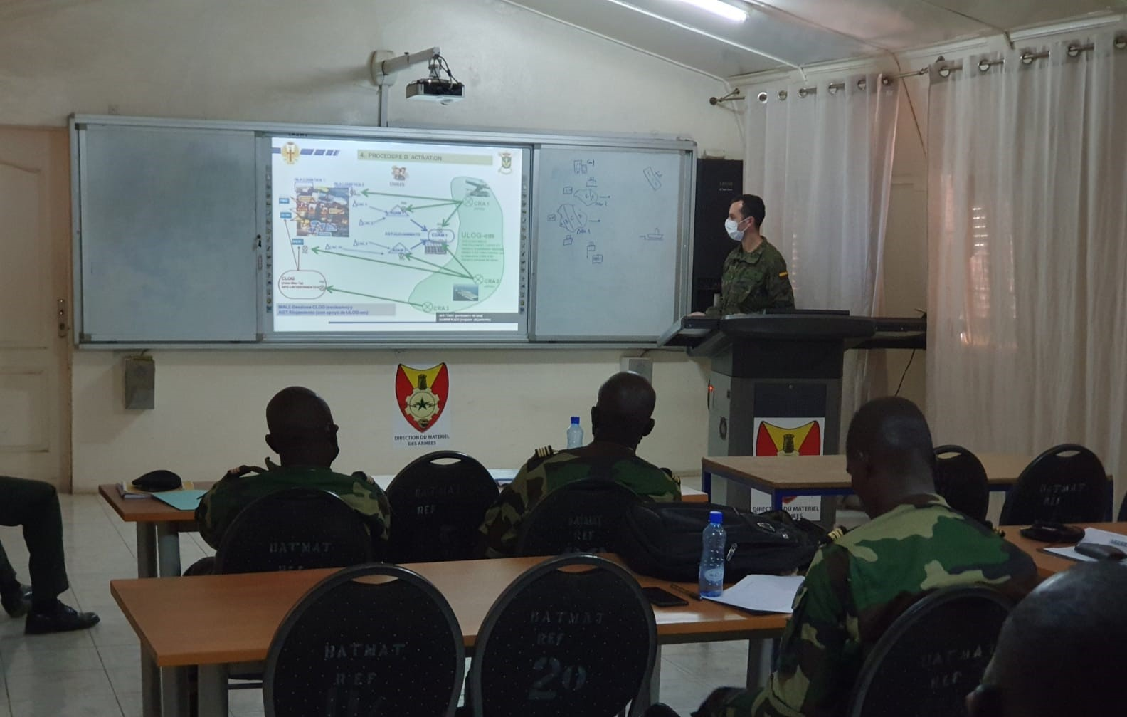 Spanish soldiers instruct the Senegalese Armed Forces in logistics
