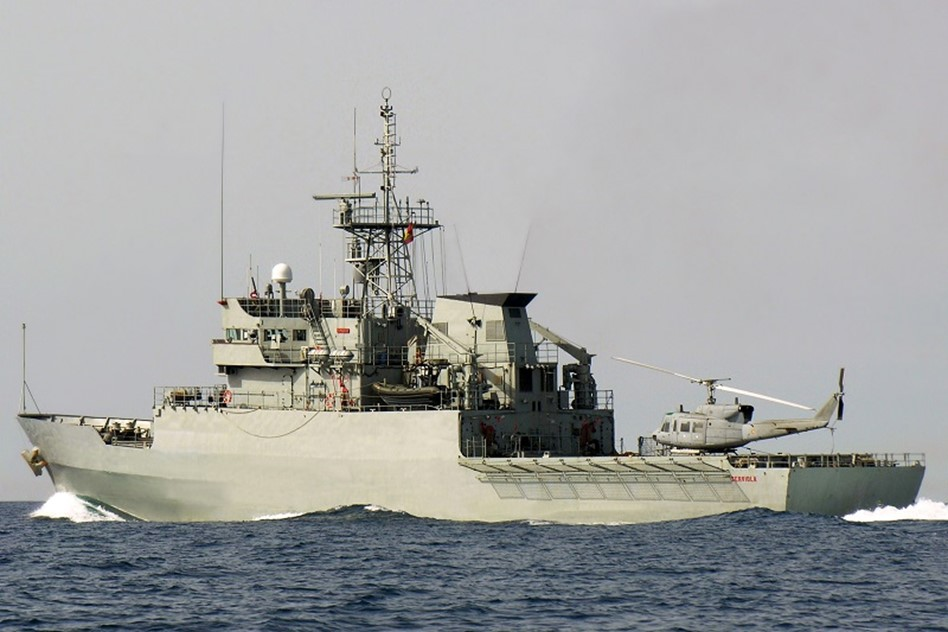 Patrol vessel 'Centinela' with an AB-112 helicopter on board