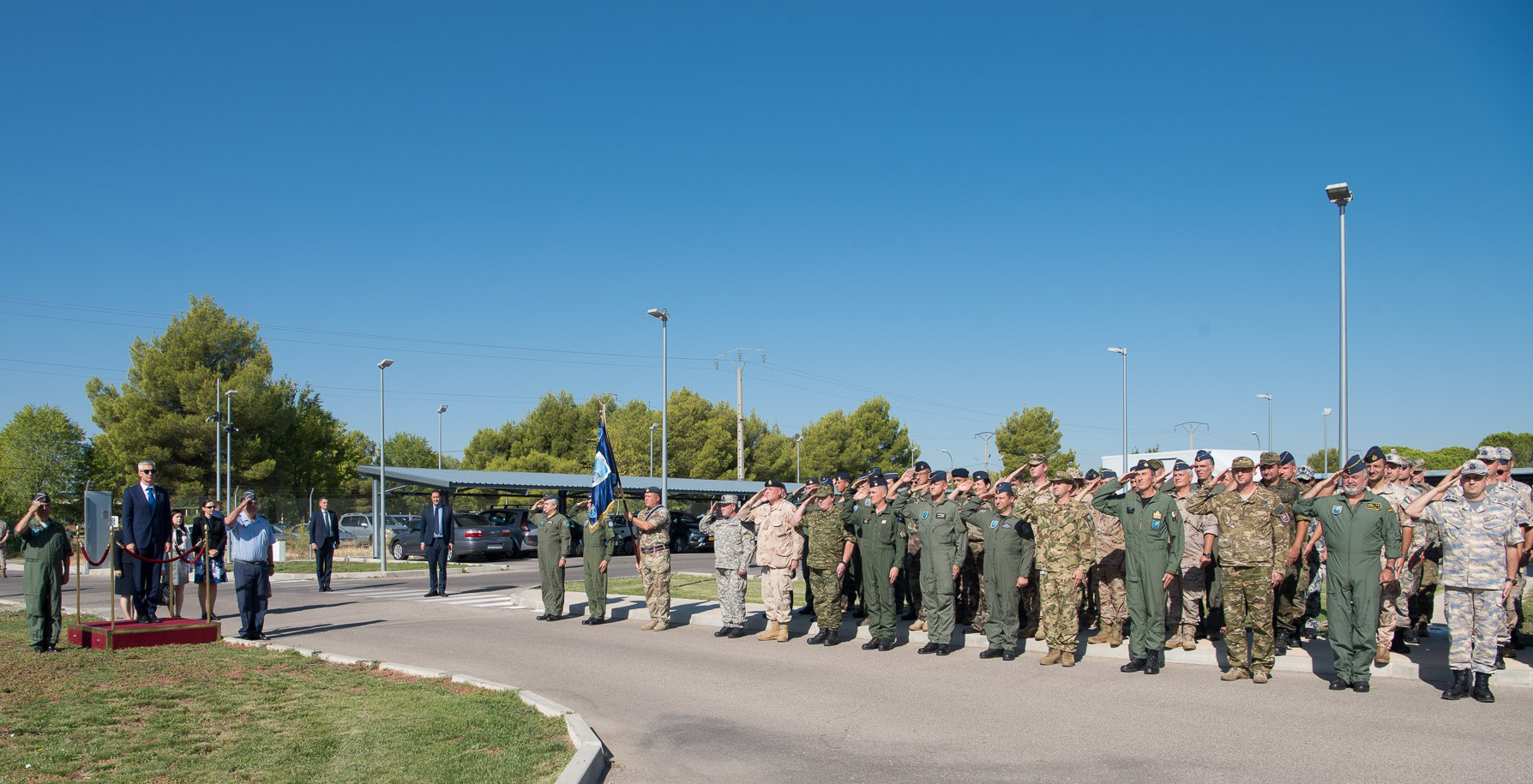 The Latvian Minister of Defence visits the Combined Air Operations Centre in Torrejón