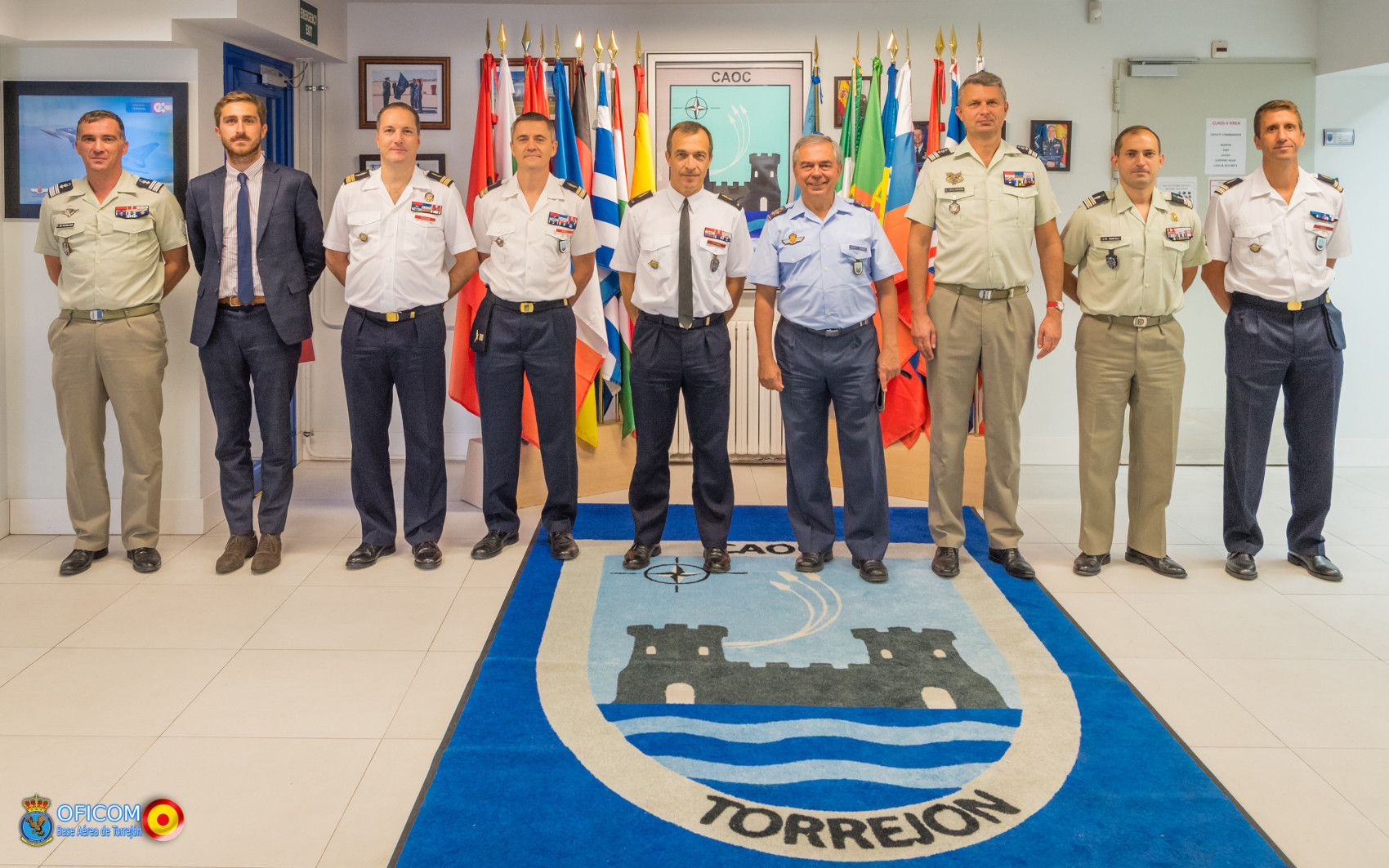 The Chief of the Euro Atlantic Division from the French Defence Staff visits the CAOC Torrejón