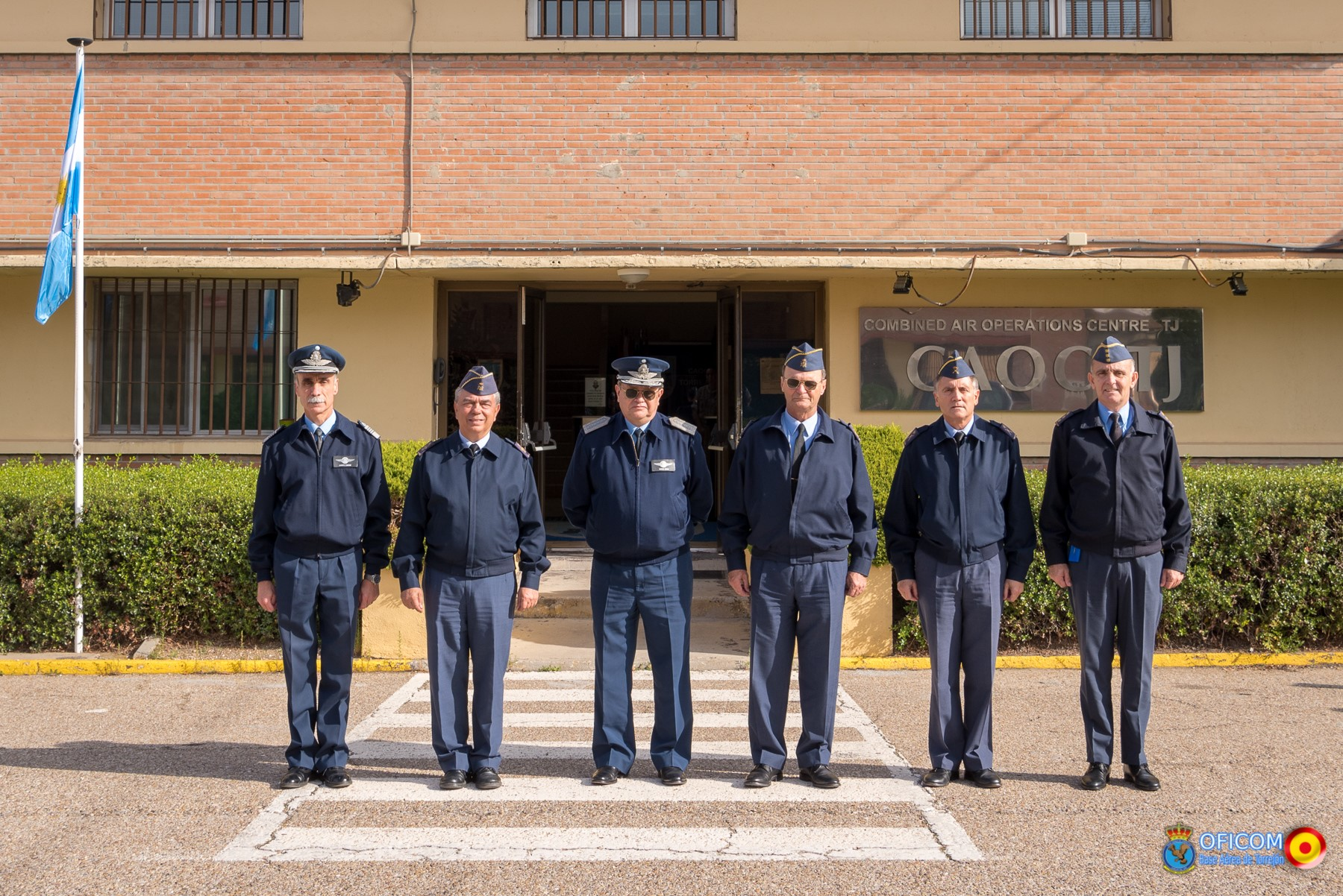 The Chief of the General Staff of the Argentinian Air Force visits the Combined Air Operations Centre in Torrejón
