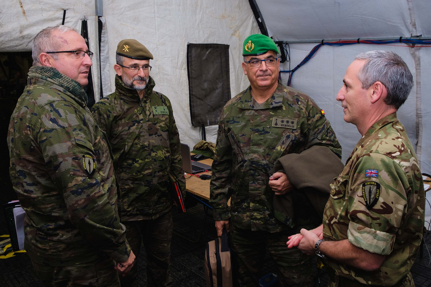 Spanish personnel take part in the exercise Arcade Fusion from the Allied Rapid Reaction Corps