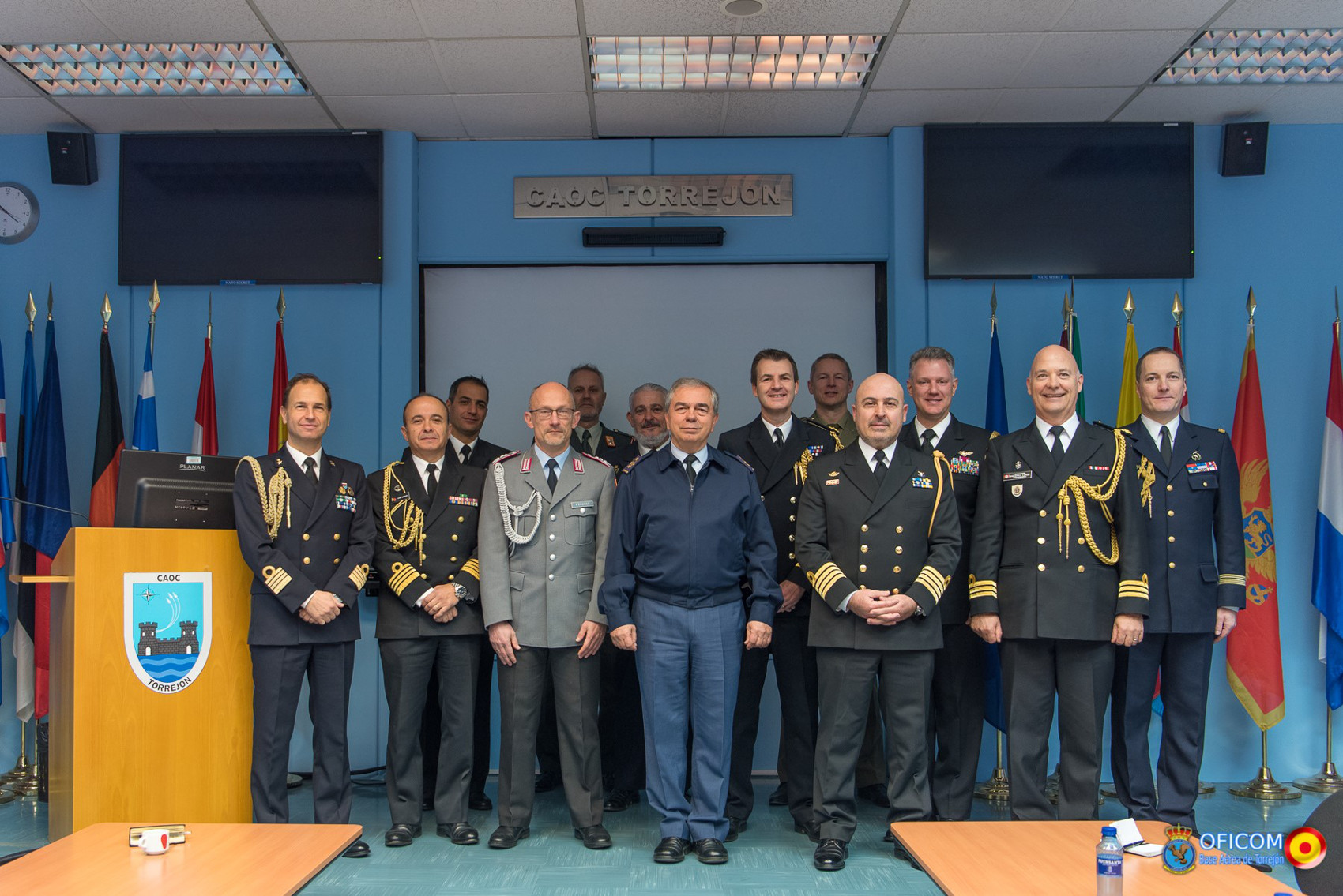 Defence attachés from NATO member countries visit the Combined Air Operations Centre in Torrejón